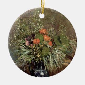 Ornement Rond En Céramique La vie d'Alfred Sisley | toujours des fleurs