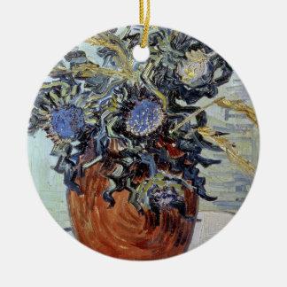 Ornement Rond En Céramique La vie de Vincent van Gogh | toujours avec des