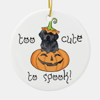 Ornement Rond En Céramique Laboratoire noir de Halloween