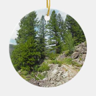 Ornement Rond En Céramique lac de monarque près de Granby le Colorado