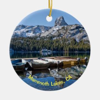 Ornement Rond En Céramique Lacs gigantesques, CA