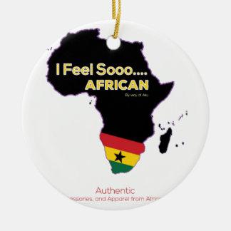 Ornement Rond En Céramique L'Afrique