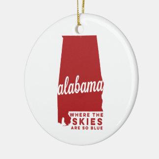 Ornement Rond En Céramique L'Alabama | où les cieux sont ainsi le cramoisi du