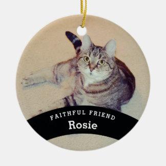 Ornement Rond En Céramique L'ami personnalisé d'animal familier ajoutent le