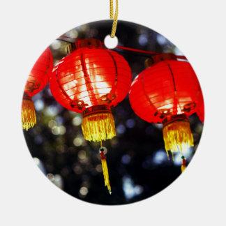 Ornement Rond En Céramique Lanternes