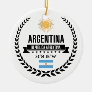 Ornement Rond En Céramique L'Argentine