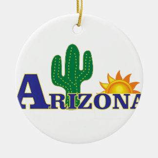 Ornement Rond En Céramique l'Arizona bleu
