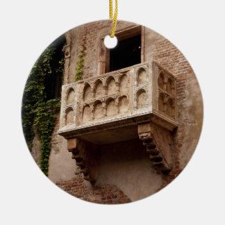 Ornement Rond En Céramique Le balcon de Juliet