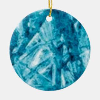 Ornement Rond En Céramique le bleu ébrèche la texture