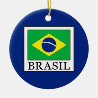 Ornement Rond En Céramique Le Brésil