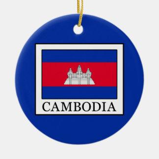 Ornement Rond En Céramique Le Cambodge