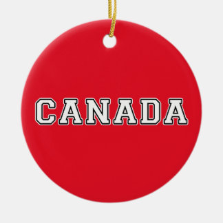 Ornement Rond En Céramique Le Canada