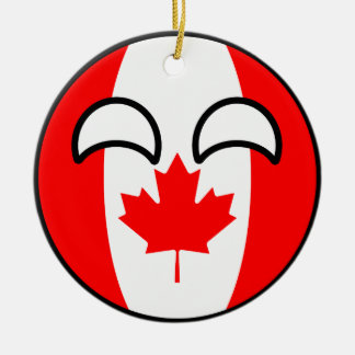 Ornement Rond En Céramique Le Canada Geeky tendant drôle Countryball