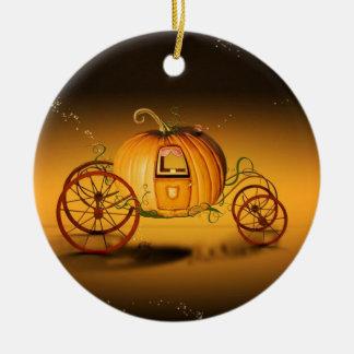 Ornement Rond En Céramique Le carrosse d'Halloween -
