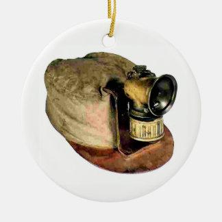 Ornement Rond En Céramique Le casquette du mineur