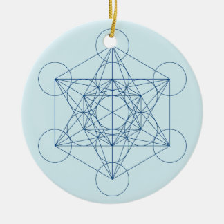Ornement Rond En Céramique Le cube de Metatron