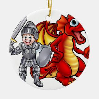 Ornement Rond En Céramique Le dragon de bande dessinée et adoubent 2017 A3-01
