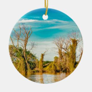 Ornement Rond En Céramique Le fleuve Parana, San Nicolas, Argentine