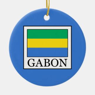 Ornement Rond En Céramique Le Gabon