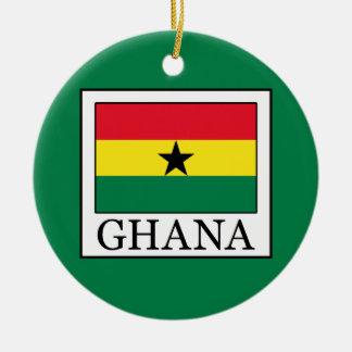 Ornement Rond En Céramique Le Ghana