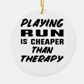 Ornement Rond En Céramique Le jeu couru est meilleur marché que la thérapie