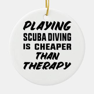 Ornement Rond En Céramique Le jeu de la plongée à l'air est meilleur marché