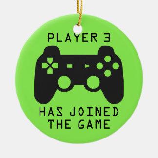 Ornement Rond En Céramique Le joueur 3 a joint le jeu