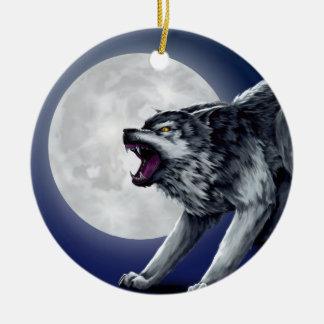 Ornement Rond En Céramique Le loup de Wolfe