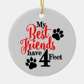 Ornement Rond En Céramique Le meilleur ami d'animal familier