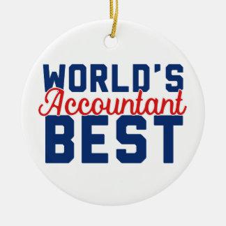 Ornement Rond En Céramique Le meilleur comptable du monde