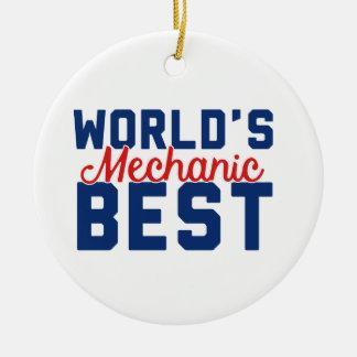 Ornement Rond En Céramique Le meilleur mécanicien du monde