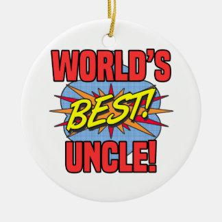 Ornement Rond En Céramique Le meilleur oncle du monde