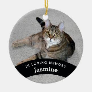Ornement Rond En Céramique Le mémorial d'animal familier personnalisé