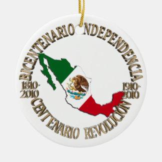 Ornement Rond En Céramique Le Mexique bicentenaire et la célébration du