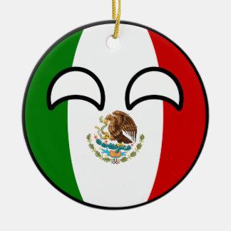 Ornement Rond En Céramique Le Mexique Geeky tendant drôle Countryball