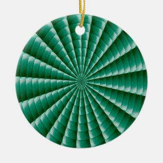 Ornement Rond En Céramique Le MODÈLE VERT de Chakra de roue ajoutent la