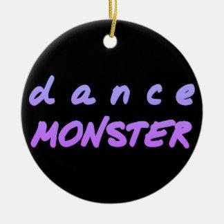 Ornement Rond En Céramique Le monstre de danse