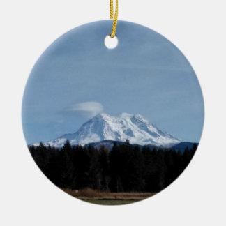 Ornement Rond En Céramique Le mont Rainier
