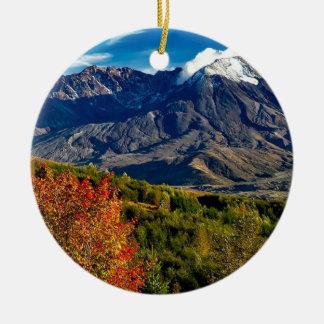 Ornement Rond En Céramique Le Mont Saint Helens, Washington