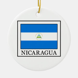 Ornement Rond En Céramique Le Nicaragua