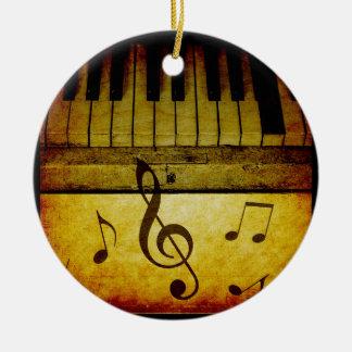 Ornement Rond En Céramique Le piano verrouille le cru