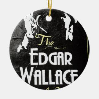Ornement Rond En Céramique Le signe Londres d'auberge d'Edgar Wallace