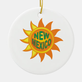 Ornement Rond En Céramique Le soleil du Nouveau Mexique