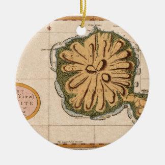 Ornement Rond En Céramique Le Tahiti 1769