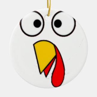 Ornement Rond En Céramique Le thanksgiving Turquie font face au tee - shirt