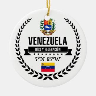 Ornement Rond En Céramique Le Venezuela