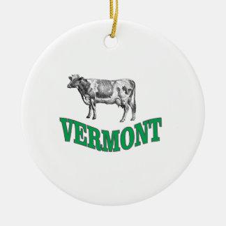 Ornement Rond En Céramique le Vermont vert