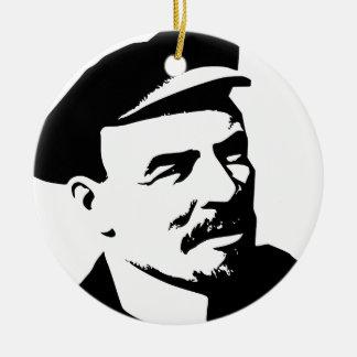 Ornement Rond En Céramique Lenin