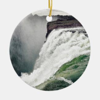 Ornement Rond En Céramique Les chutes Victoria