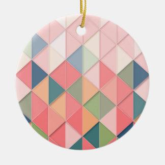 Ornement Rond En Céramique Les couleurs pastel de CUBISME GÉOMÉTRIQUES -